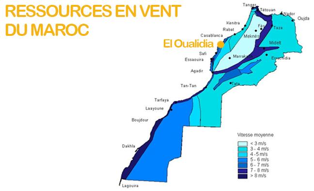Carte vent maroc