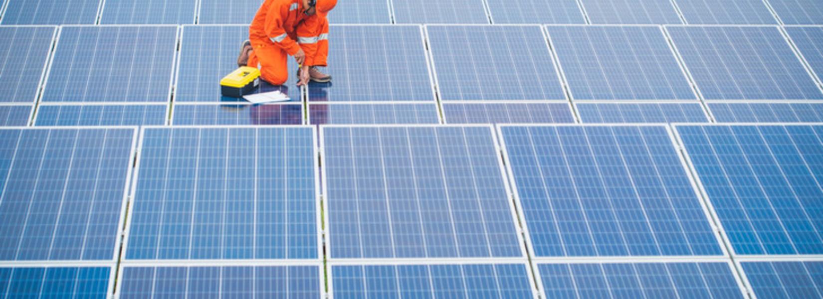 Image centrale photovoltaique