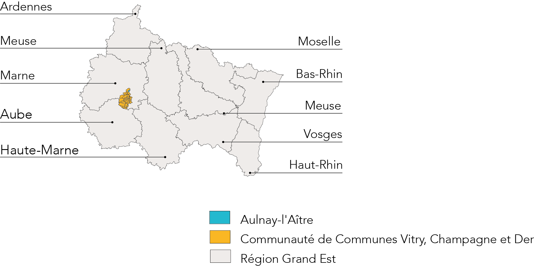 Carte implantation Aulnay