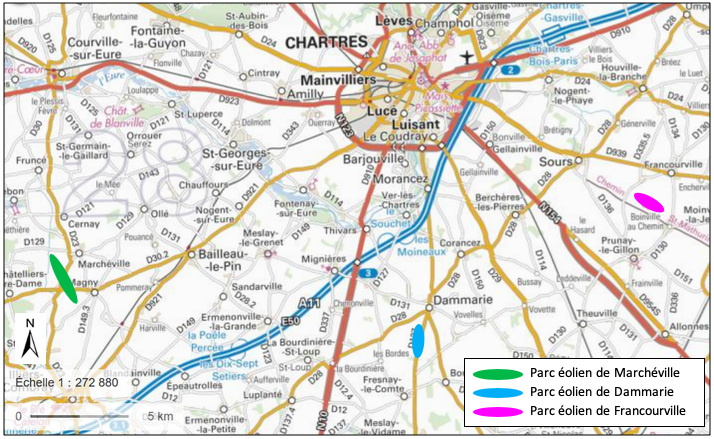 Carte d'implantation des parcs