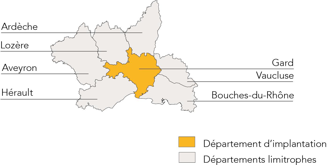 Carte perimetre Gard